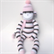 'Chelsea' the Sock Monkey - pink white and grey - *READY TO POST*