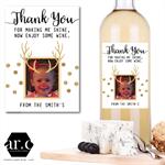 PERSONALISED TEACHER / DAY CARE / CARER / CHRISTMAS Wine Bottle Gift Label