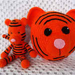 Tiger Bed Cushion, READY TO POST, Crochet Bed Cushion, Boy Gift