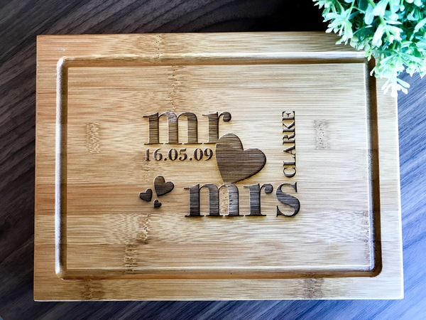 Wedding Gift Ideas Australia: Personalised Chopping Board, Presentation Serving Or