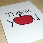 Thank you Teacher card - Red Apple