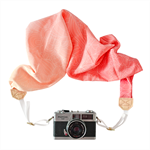 Silk Scarf Camera Strap – Sunset Bloom, camera accessories, floral, photographer