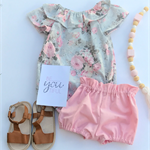 Pretty Grey Floral Ruffle Sleeve Romper Playsuit