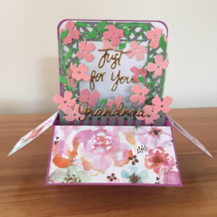 Pop Up Birthday Card, card in a box, box card, Customisable card