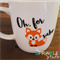 "Funny Coffee mug decal -""Oh, for fox sake"""