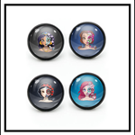 DAY OF THE DEAD DISNEY PRINCESS MIX N MATCH STUD EARRINGS (set of 4)