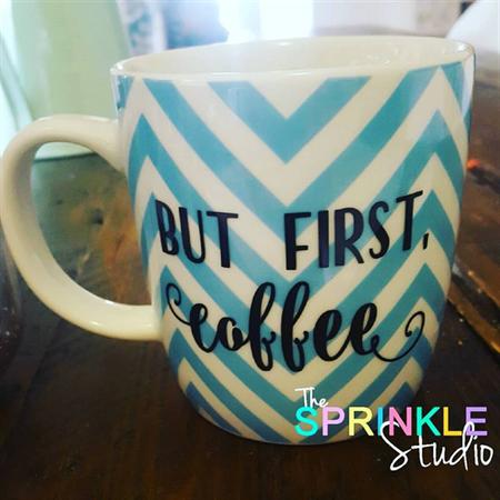 Coffee mug label - choose your saying and colour