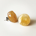 Yellow Agate Bohemian Gemstone Crystal Stud Earrings