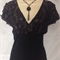 Ladies gorgeous black lace top  size 16