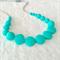 Silicone nursing necklace: Turquoise