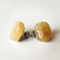 Yellow Agate Bohemian Gemstone Crystal Stud Earrings