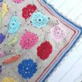 Little Cot Blanket - Hand Crochet - Cotton