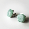 Bohemian Jade Crystal Stud Earrings