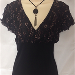 Ladies gorgeous black lace top  size 16