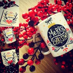Christmas mug & Coaster gift set