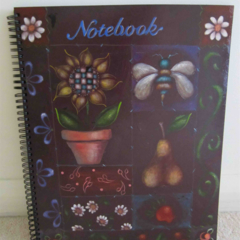 Notebook with Painted Patchwork Cover