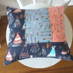 Woodland teepee cushion