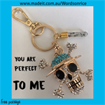 YOU ARE PERFECT TO ME - keyring or bagcharm