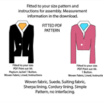 Sewing pattern for your fit. Jacket, PDF any size.