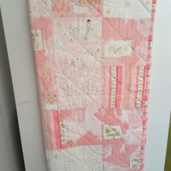Pink unicorn cot quilt, baby quilt, baby quilts, cot quilt