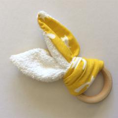 Natural Wooden Teething Ring - Fox Design