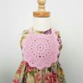 Little Bib - Hand Crochet  - 100% Cotton