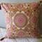 Ochre & Burgundy Cushion Cover