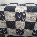 Baby quilts, woodland cot quilt