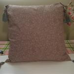Mocha coloured cushion cover