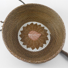 "Handwoven Pine Needle Spiritual Healing Basket ~ ""Autumn No.2"""
