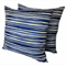 Set of Two Sapphire Blue & White Cushion Covers FREE POST