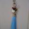 Tassle & Bead Handbag Bling or Keychain