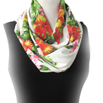 Tropical Flower Infinity Scarf