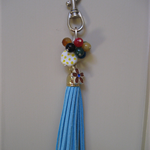 Tassel & Bead Handbag Bling or Keychain