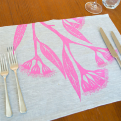 Gum Blossom Placemat Set of 4 in Pink