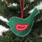 EMBROIDERED FELT BIRD (Christmas decoration)