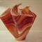 """""""Godiva"""" draped handkerchief art glass vase"""