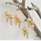 4 x Wood Bead Christmas Baubles Decoration Boho Hamptons Home Decor