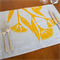 Gum Blossom Placemat Set of 4 in Yellow