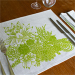 Succulent Garden Placemat Set of 4 in Green