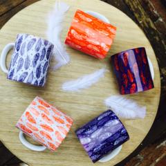 Feather mug set of 4