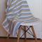 Crochet Baby Blanket / Vanilla Cream / Duck Egg Blue / White / Lightweight