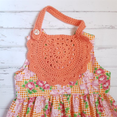 Little Bib - Hand Crochet  - 100% Cotton