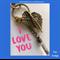 I LOVE YOU - keyring or bagcharm