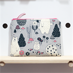 Bears & Owls Pouch, Pencil case, makeup bag