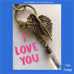 I LOVE YOU - keyring or bagcharm
