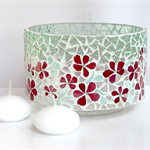 Floral Vase or Floating candle Candleholder ... with two floating candles incl.