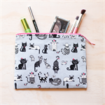 Cute Cats & Kittens Pouch or Pencil case, makeup bag