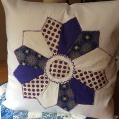 Cushion covers. Dresden plate cushion covers.