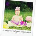 Baby Girls Pretty Purple First Birthday Flower Crown & Pettiskirt